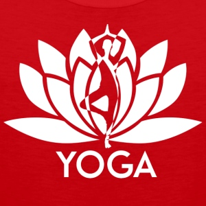 ++ ++ Yoga Flower - Premium singlet for menn