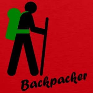 Backpacker, traveling with backpack - Men's Premium Tank Top