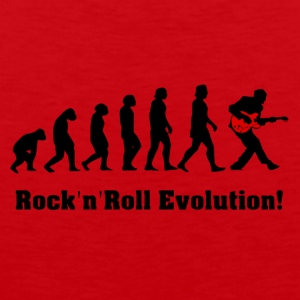 rockandroll evolution, rock, guitar - Men's Premium Tank Top