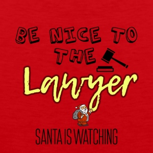 Be nice to the lawyer because Santa is watching - Men's Premium Tank Top