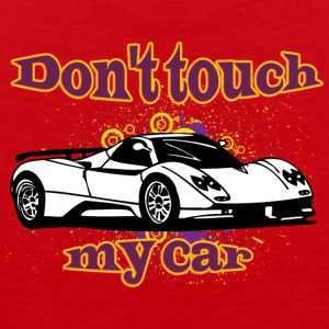Don t touch my car white - Men's Premium Tank Top