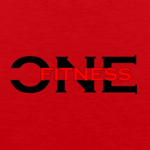 ONE FITNESS Logo (Without Globe) - Herre Premium tanktop
