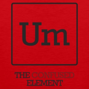 Chemist / chemisch: To - The Confused element - Mannen Premium tank top