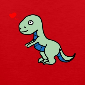 Allosaurus Dino T-Shirt with sweet dinosaur - Men's Premium Tank Top
