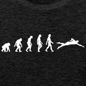 The Evolution Of Swimming - Men's Premium Tank Top