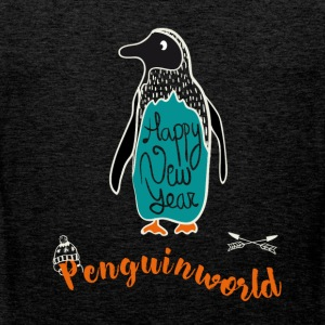 Penguin jul sne illustration nye år tol - Herre Premium tanktop
