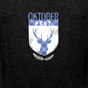 oktoberfest-crest antlers checkered Bayern deer - Men's Premium Tank Top