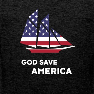 america sail USA Flag God Bless America - Men's Premium Tank Top