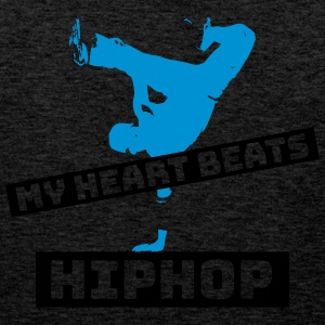 My heart beats HIPHOP - Men's Premium Tank Top