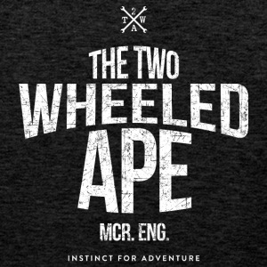 Two Wheeled Ape Logotype Biker T shirt - Men's Premium Tank Top