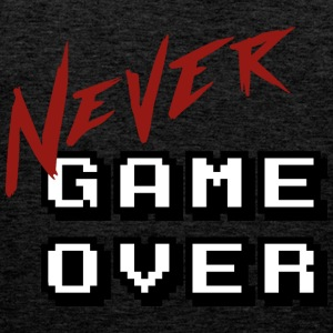 Big_Never_game_Over_white - Männer Premium Tank Top