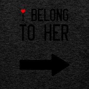 I belong to her - Men's Premium Tank Top