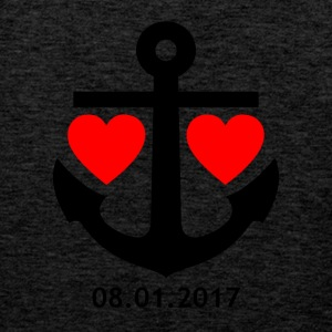 01/08/2017 envelope relationship shirt / mug / bag / - Men's Premium Tank Top