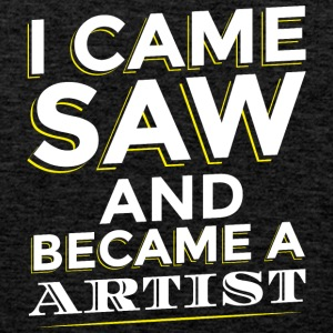 I CAME SAW AND BECAME A ARTIST - Men's Premium Tank Top