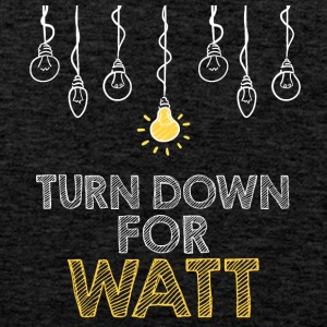 Electricians: Turn down for watt - Men's Premium Tank Top
