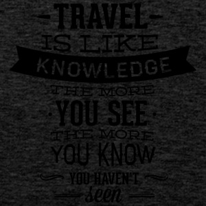 travel like knowledge - Men's Premium Tank Top