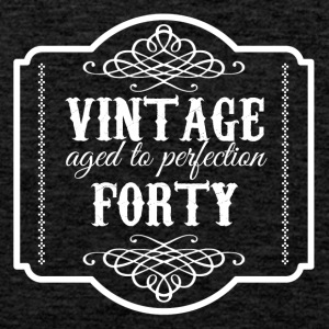 40th Birthday: Vintage Aged To Perfection Forty - Men's Premium Tank Top