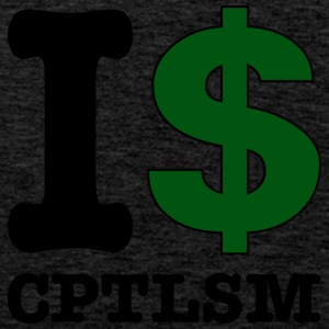 I $ capitalism - Men's Premium Tank Top