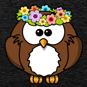 Hippie Flower Owl - Premium singlet for menn