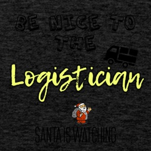 Be nice to the logistician Santa is watching - Men's Premium Tank Top