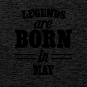 Legends are born in MAY - Tank top premium hombre