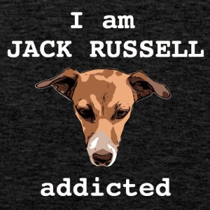 Jack russel addicted white - Men's Premium Tank Top