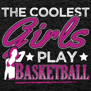 COOLEST GIRLS PLAY BASKETBALL - Men's Premium Tank Top