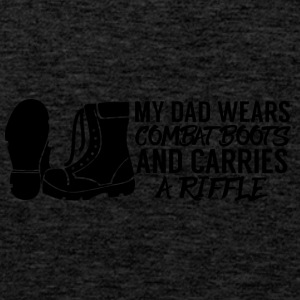 Military / Soldiers: My Dad Wears Combat Boots And - Men's Premium Tank Top