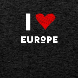 I Love Europe eu Herz rot liebe statement Demo fun - Männer Premium Tank Top