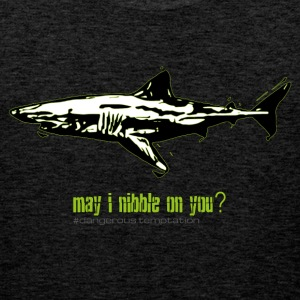"Shark ""may i nibble on you?"" - Men's Premium Tank Top"