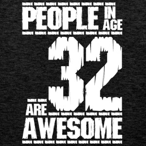 PEOPLE IN AGE 32 ARE AWESOME white - Men's Premium Tank Top