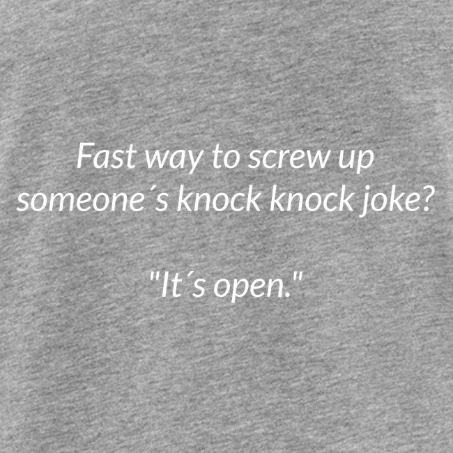 Screwing Up A Knock Knock Joke
