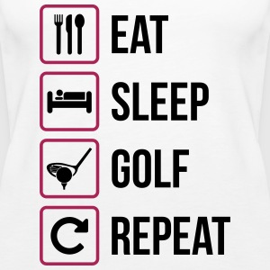 Eat Sleep Golf Repeat - Frauen Premium Tank Top
