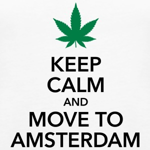 keep calm move to Amsterdam Holland Cannabis Weed - Frauen Premium Tank Top