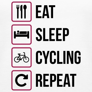 Eat Sleep Cycling Repeat - Women's Premium Tank Top