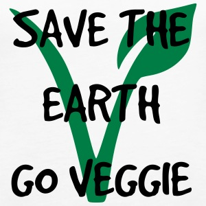 Save the earth go veggie - Frauen Premium Tank Top