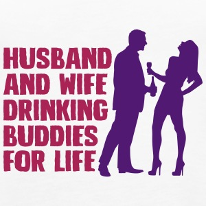 Husband And Wife Drinking - Women's Premium Tank Top