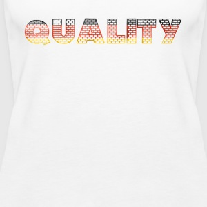 Quality on a wall with German colors - Women's Premium Tank Top