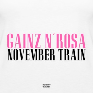 Gainz n´Rosa - November Train Shirt Damen Fitness - Frauen Premium Tank Top