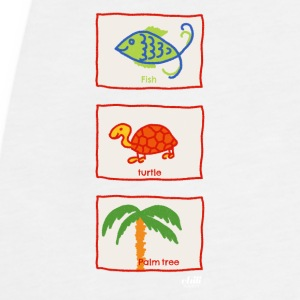 Fish, turtle, palm tree: vacation beach leisure - Women's Premium Tank Top