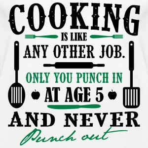 Cooking is like any job - cook - Women's Premium Tank Top