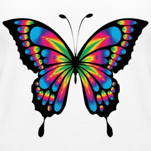 Multicolor psychedelic butterfly - Women's Premium Tank Top