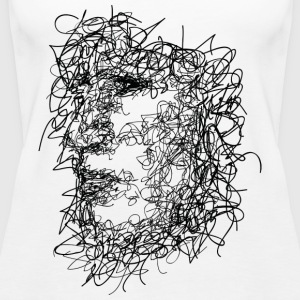 Face Scribbling - Women's Premium Tank Top