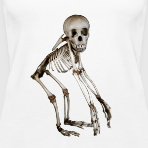 Baby Chimpanse Skeleton af Wild World Designs (WWD) - Dame Premium tanktop