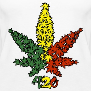 Rasta Leaf 420 - Women's Premium Tank Top