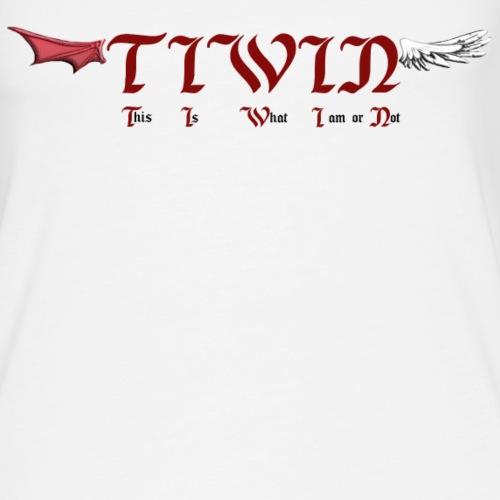 ange blanc diable rouge - Débardeur Premium Femme