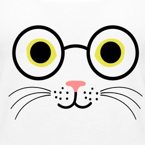 Cat eyeglasses - Women's Premium Tank Top