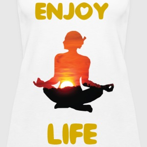 #Yoga #Meditation #Enjoy your Life T-shirt - Frauen Premium Tank Top