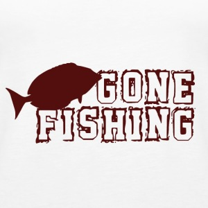 Gone Fishing - Fishing Addict - Tank top damski Premium