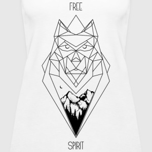 Wolf Design (non 3D) - Women's Premium Tank Top